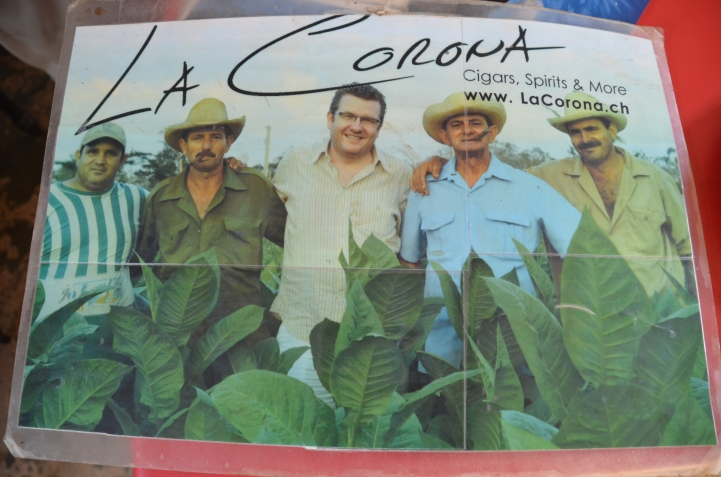 Benito, on the right, in a tobacco ad.