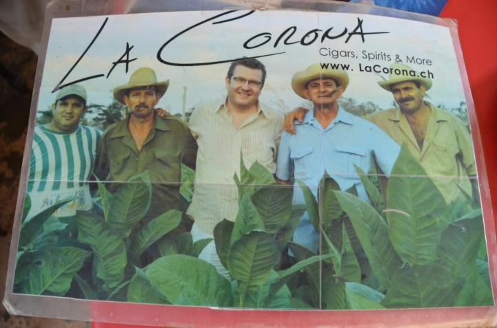 Benito, on the right, in a tobacco ad.