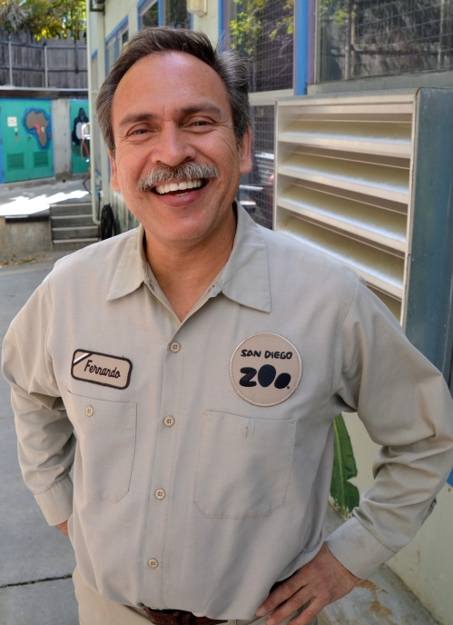 Fernando, keeper of gorillas for 30 years, at the San Diego Zoo.