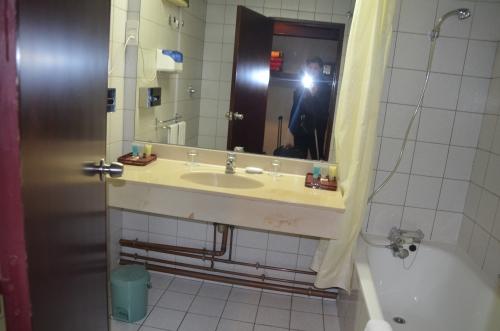 Our hotel bathroom