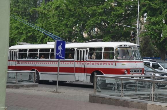 North Korean tram