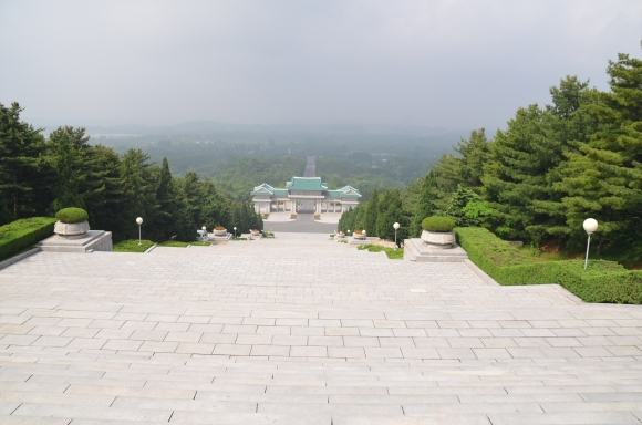 Looking down toward the entrance of the Revolutionary Martyrs Cemetery