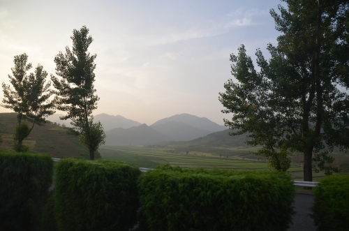 The countryside along the road to the DMZ