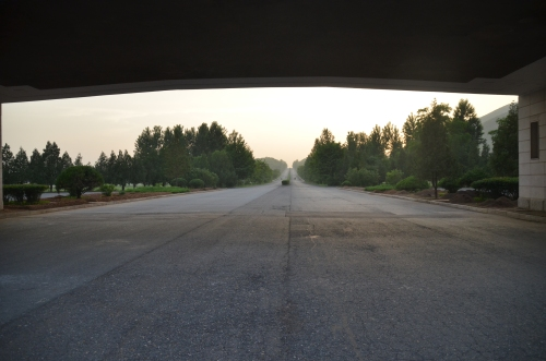 The highway from Pyongyang to the DMZ