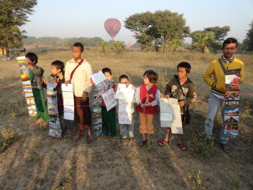 The local children were waiting for us to buy their photos as a souvenir as we landed early in the morning.