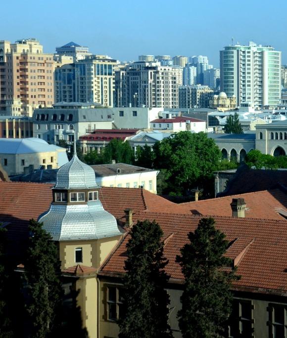 A daytime photo of Baku
