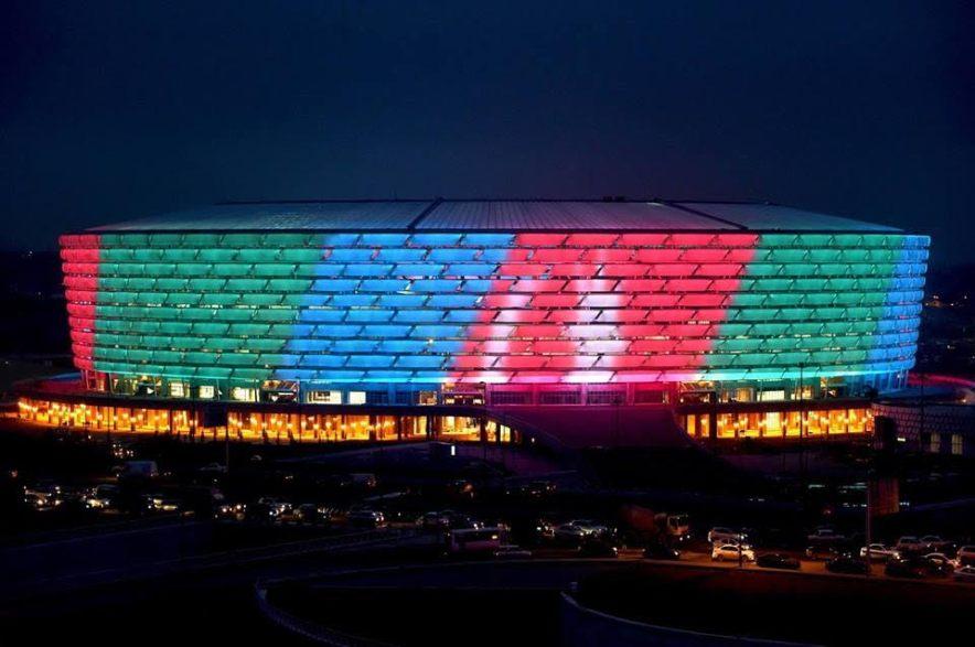 multi-color Olympic Stadium